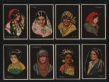Tobacco Cards cigarette cards Girls of Many Lands
